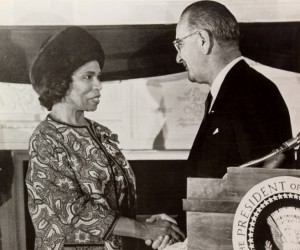 Marian Anderson and President Johnson