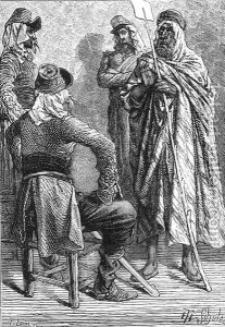 The French In Algeria. Engraving by P.-Louis.  From The History Of France by Emile de Bonnechose.