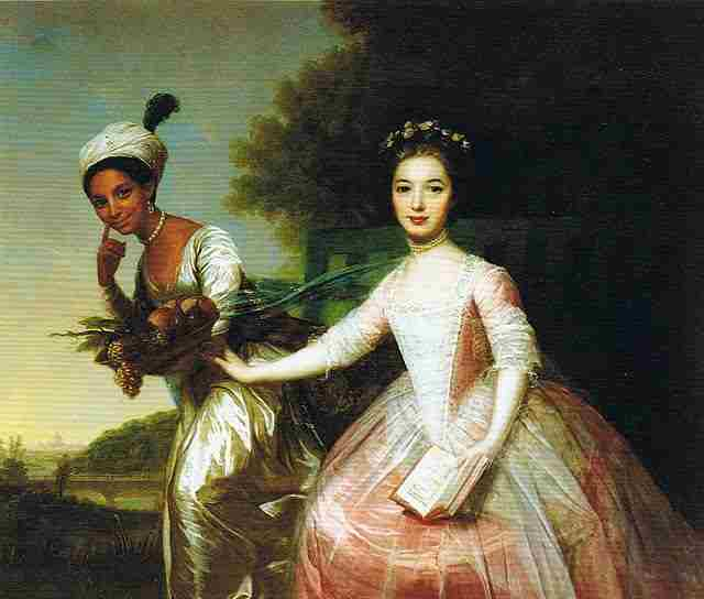 Painting of Dido Belle with her cousin Elizabeth, formerly attributed to Johann Zoffany
