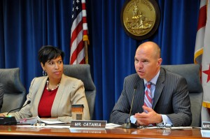 Muriel Bowser and David Catania (source:  Washington Blade, Michael Key)