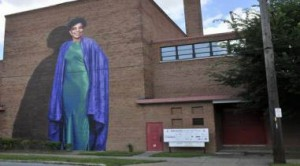 Ruby Dee mural at Karamu House, Cleveland, OH