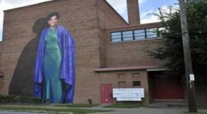 Ruby Dee mural at Karamu House, Cleveland, OH