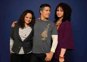 Judy Reyes, Esai Morales, and Harmony Santana