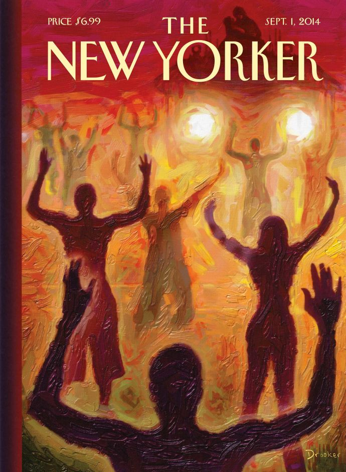 New Yorker magazine, September 1, 2014.  Ferguson, Missouri cover story.