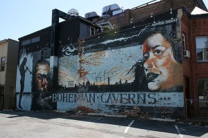 The original mural with Shirley Horne and Miles Davis.