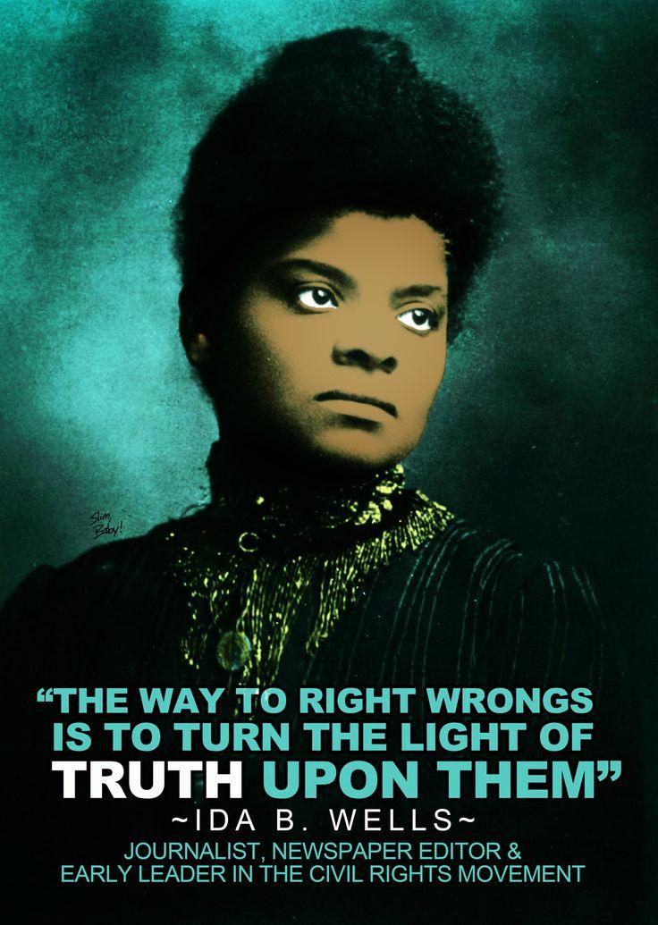 the life of ida b wells Paula j giddings' ida, a sword among lions: ida b wells and the  to 7:30  pm the book details the life of civil-rights activist ida b wells.