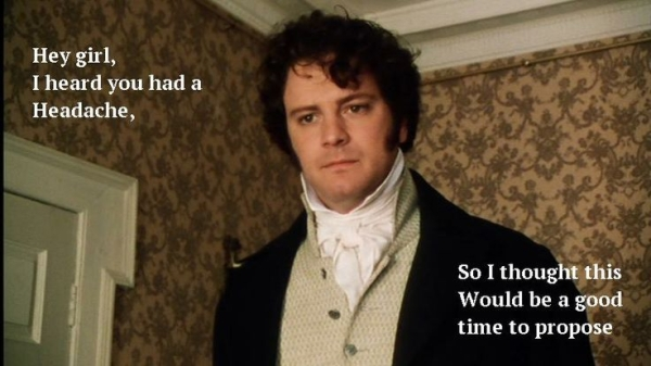 "Colin Firth as Mr. Darcy in the BBC mini-series ""Pride and Prejudice"""