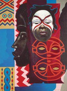 """Ubi Girl from Tai Region"" by Lois Mailou Jones 1972"